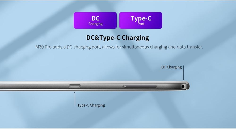 Teclast M30 Pro Tablet DC & Type-C Charging