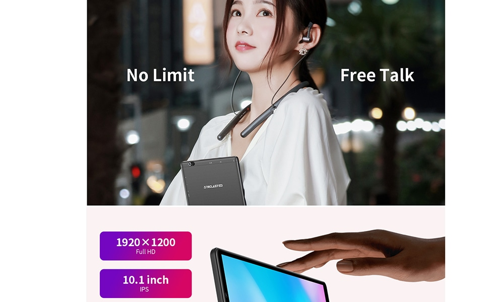 Teclast P10HD 10.1 inch 4G Phablet Android 9.0 3GB RAM + 32GB ROM Tablet PC- Black