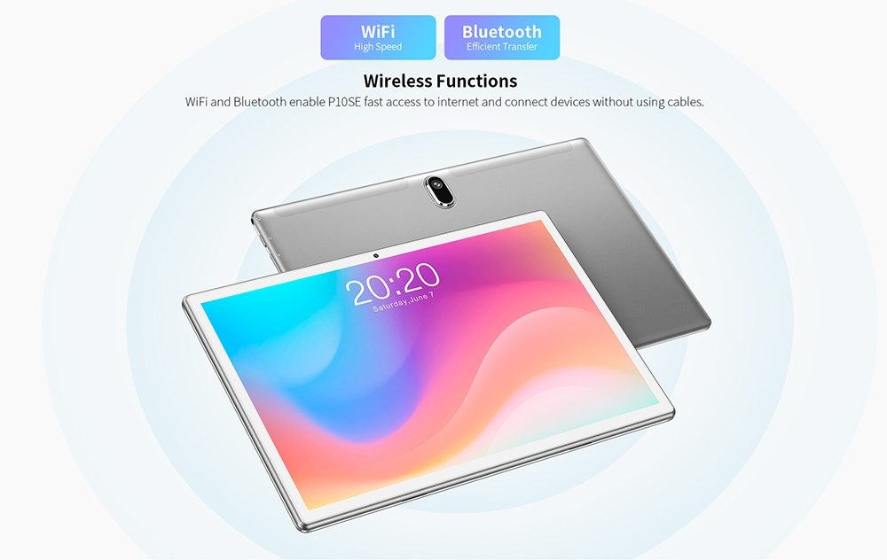 Teclast P10SE Tablet PC 10.1 inch Unisoc SC7731E Quad Core Processor​ Android 10.0 2GB + 32GB 5000mAh - Silver
