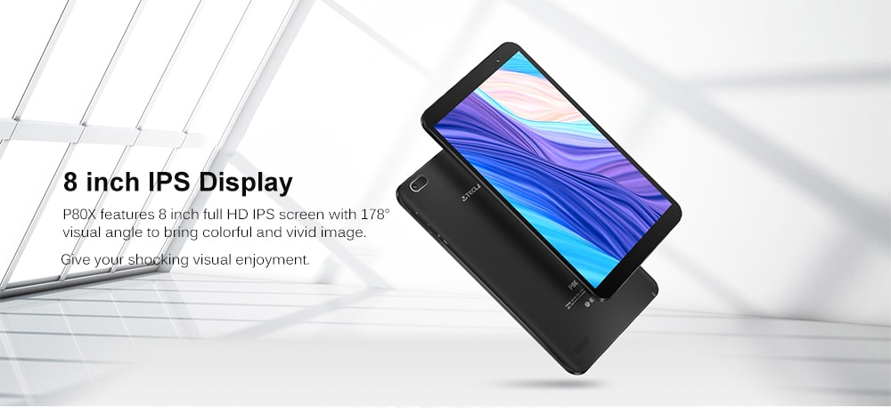 Teclast P80X 8,0 hüvelykes 4G Phablet Tablet Android 9.0 / Spreadtrum SC9863A 1,6 GHz-es Octa Core CPU / 2 GB RAM 16GB ROM / 2,0MP kamera - fekete