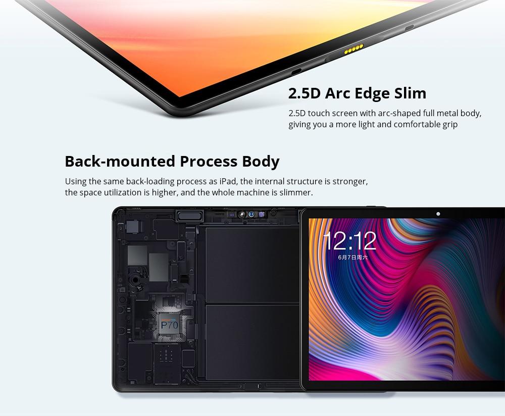 Teclast T30 10.1 hüvelykes 4G Phablet Android 9.0 MT6771 (Helio P70) 2.1 GHz Octa Core CPU 2.5D Arc Edge Érintőképernyő 4 GB DDR4 RAM 64 GB eMMC ROM 8.0MP + 5.0MP kamera - fekete