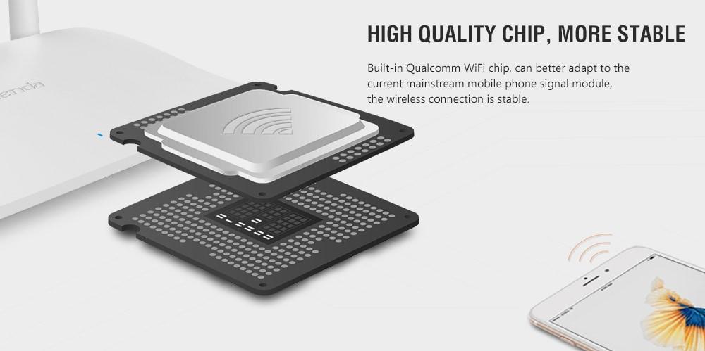 Tenda F6 300M vezeték nélküli router WiFi falon átnyúló intelligens útválasztás - fehér