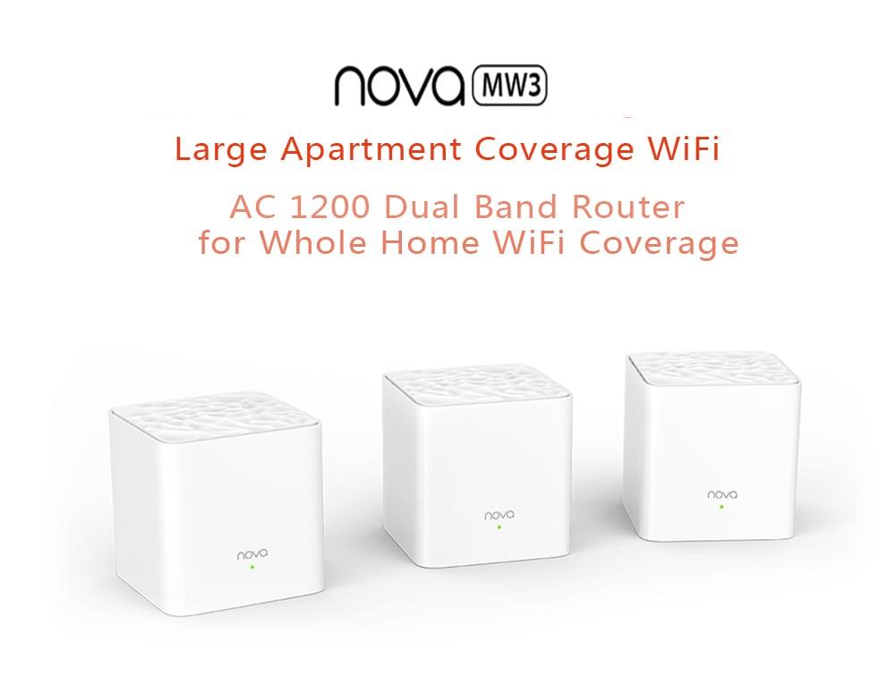 TENDA Nova MW3 AC1200 Dual Frequency Wireless Router 1200Mbps- White 2pcs