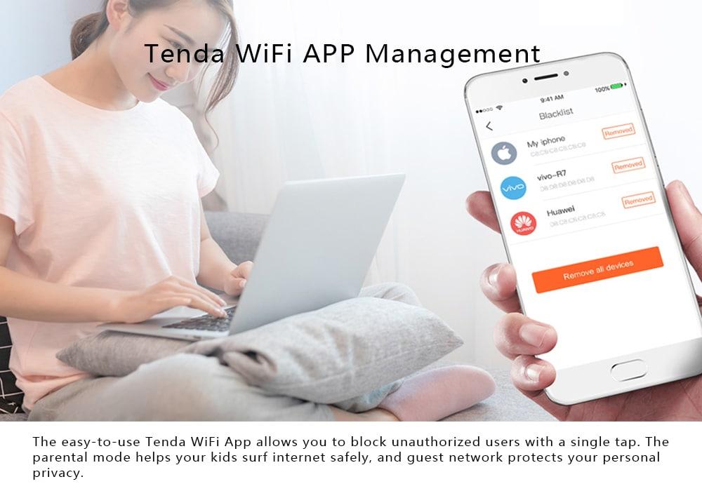 TENDA Nova MW3 AC1200 kétfrekvenciás vezeték nélküli router 1200Mbps-fehér 3db