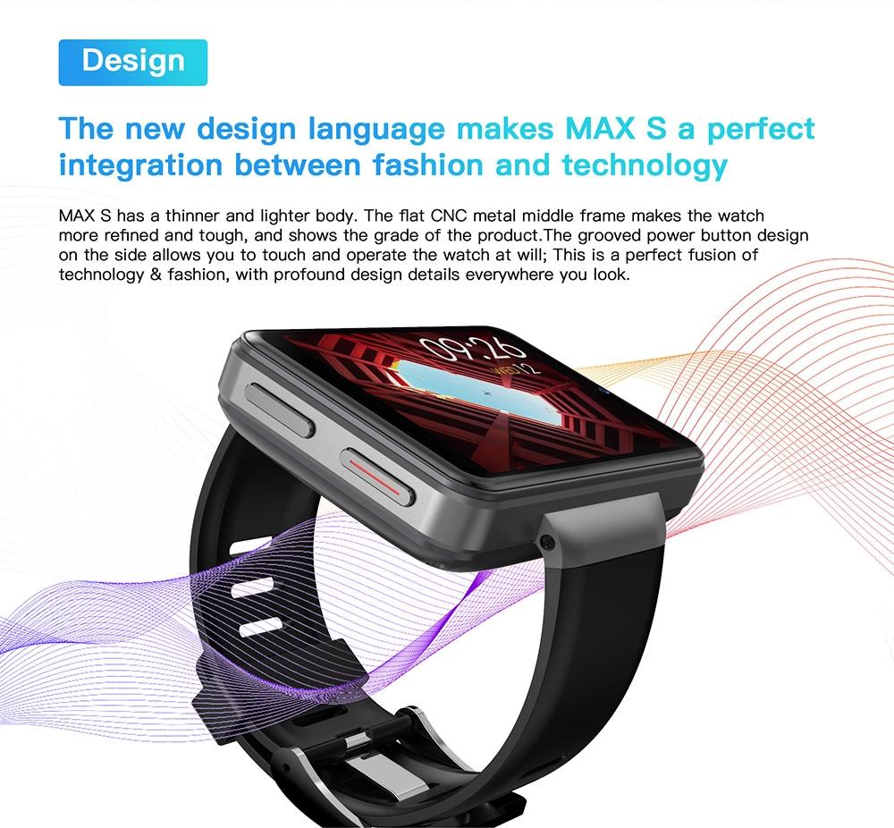 Ticwris Max S 4G Smart Watch Phone - Silver