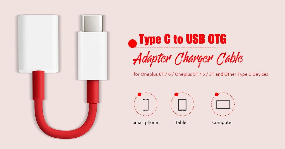 C típus - USB OTG adapter töltő kábel az Oneplus 6T / 6 / Oneplus 5T / 5 / 3T-Multi-A készülékhez