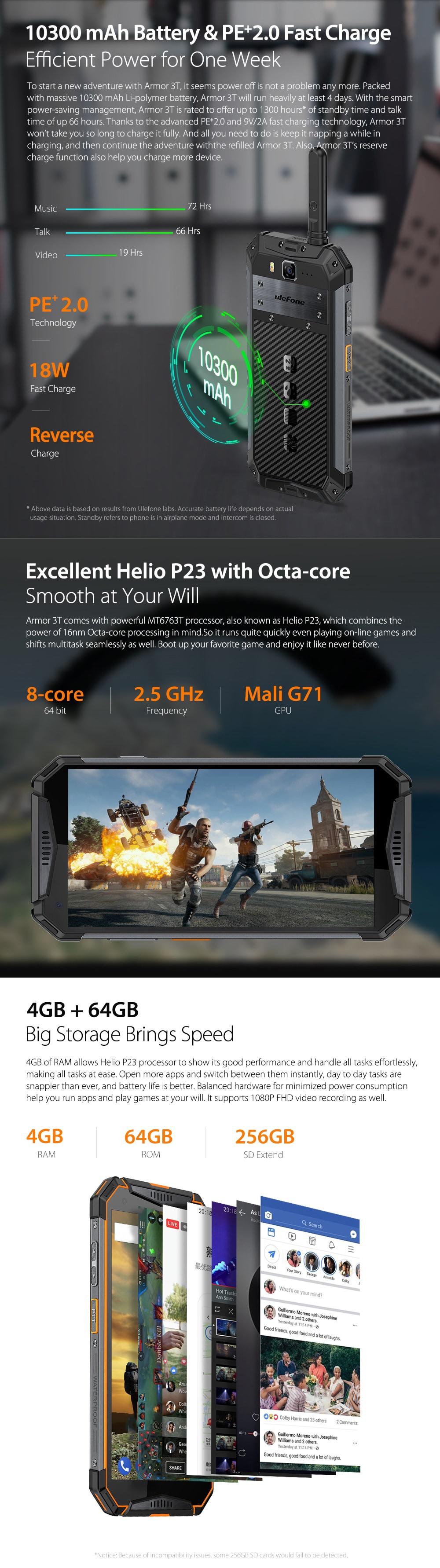Ulefone Armor 3T 4G okostelefon