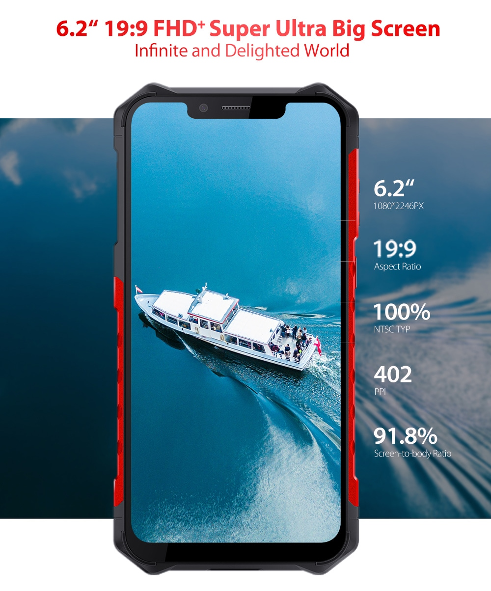 Ulefone Armor 6S 4G Phablet 6GB RAM 128GB ROM- Red EU Version