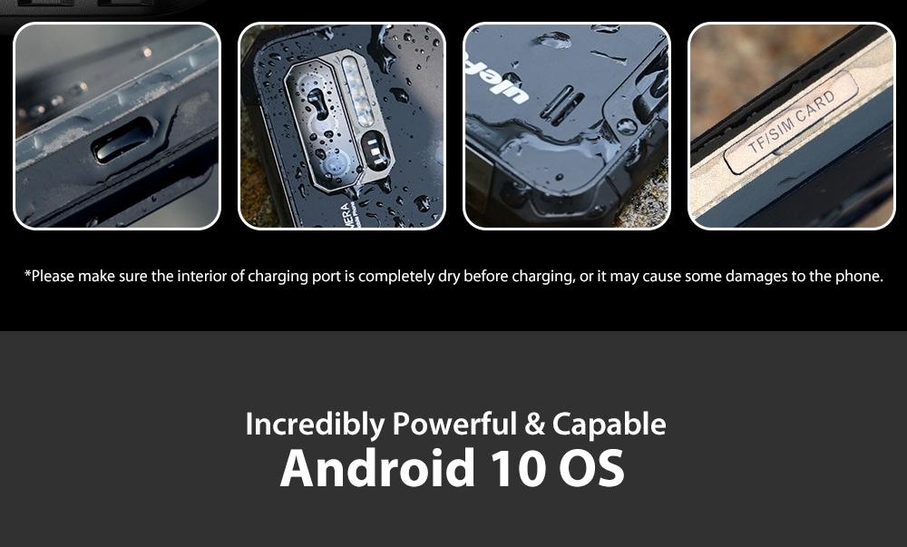 Ulefone Armor 7 4G Smartphone 8GB RAM 128GB ROM - Black EU (New version)