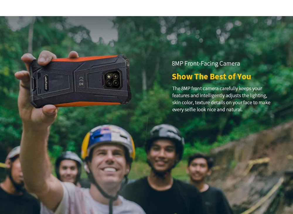 Ulefone Armor 8 Rugged 4G Smartphone 8MP Front-Facing Camera