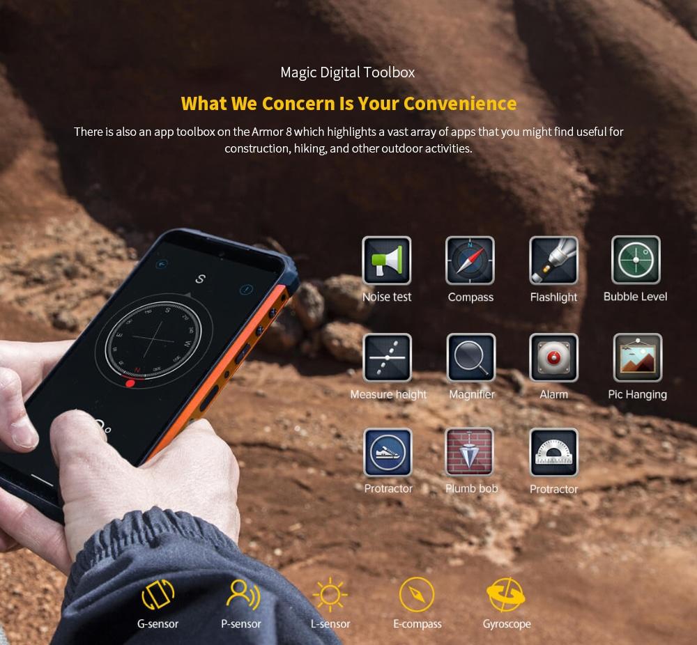 Ulefone Armor 8 Rugged 4G Smartphone Magic Digital Toolbox