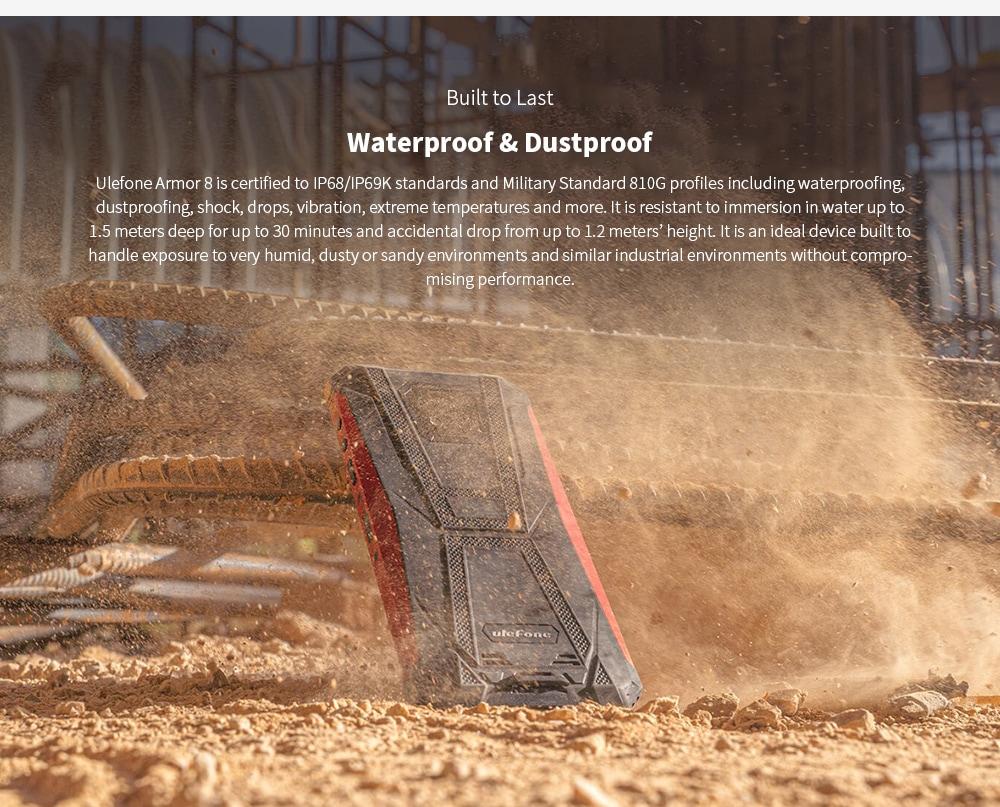 Ulefone Armor 8 Rugged 4G Smartphone Waterproof & Dustproof