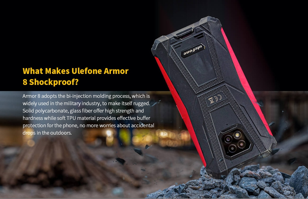 Ulefone Armor 8 Rugged 4G Smartphone What Makes Ulefone Armor 8 Shockproof?