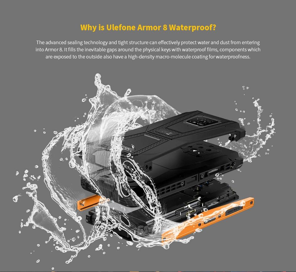 Ulefone Armor 8 Rugged 4G Smartphone Why is Ulefone Armor 8 Waterproof?