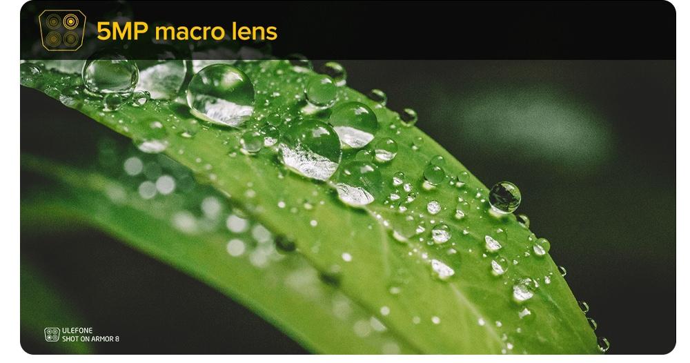 Ulefone Armor 8 Rugged 4G Smartphone 5MP micro lens