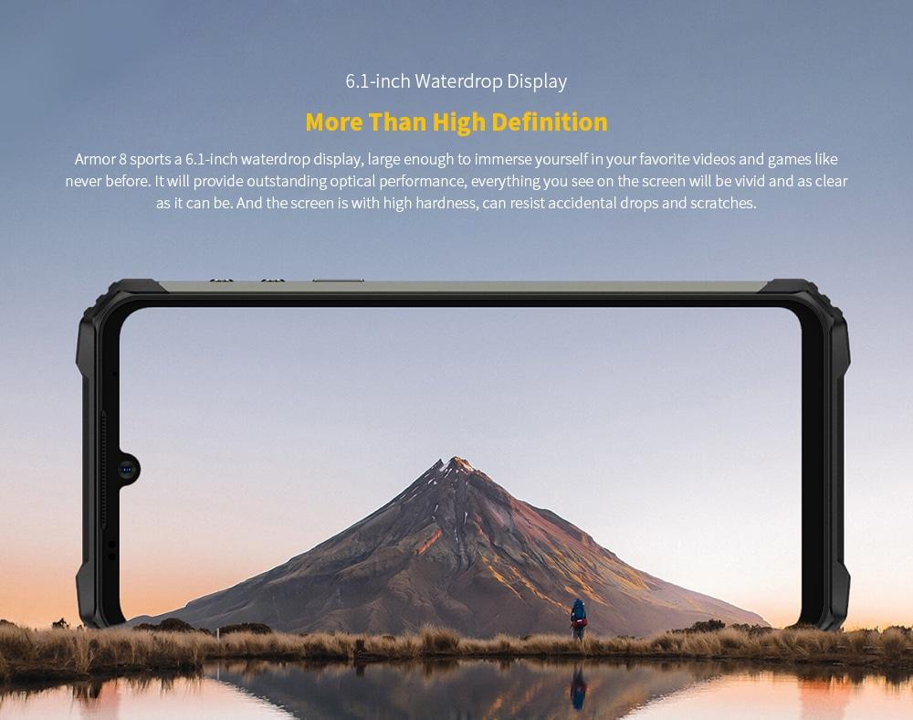 Ulefone Armor 8 Rugged 4G Smartphone 6.1-inch Waterdrop Display