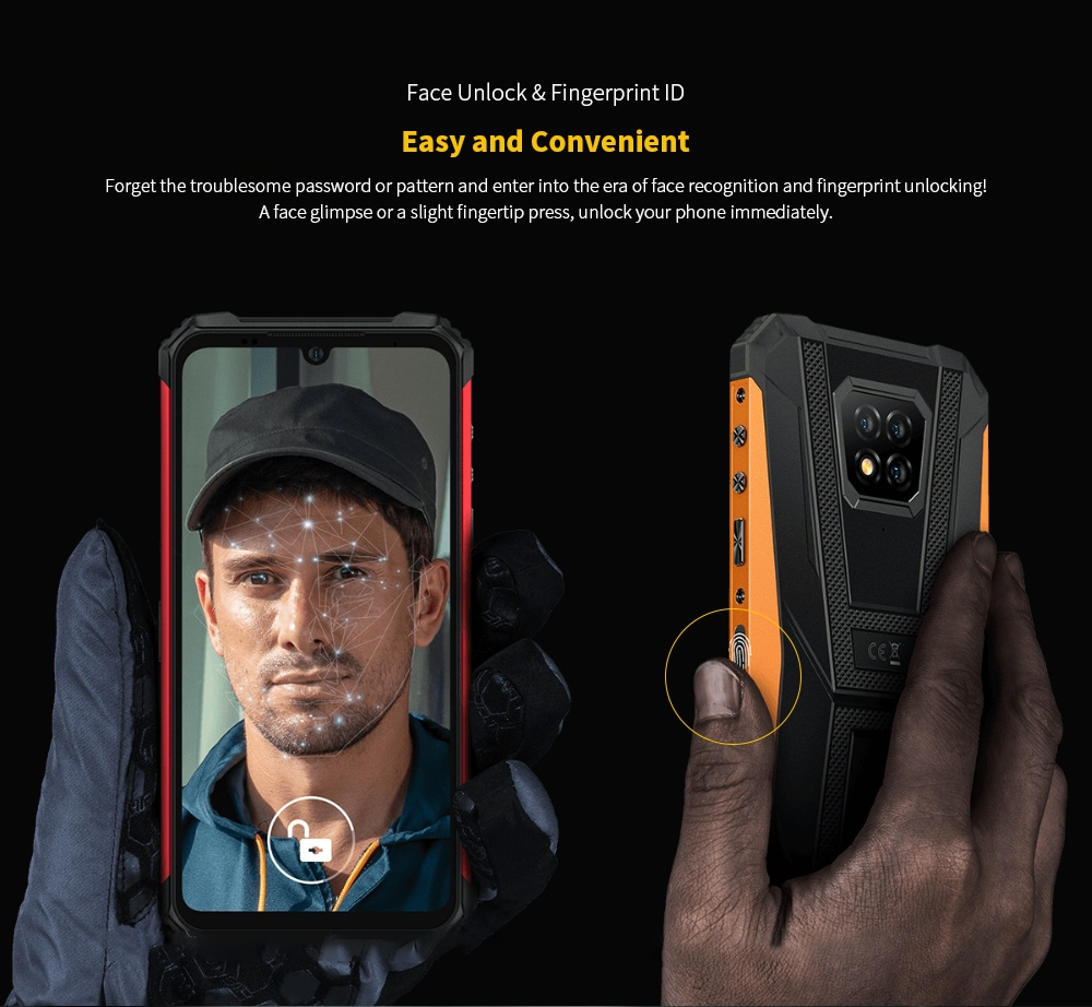 Ulefone Armor 8 Rugged 4G Smartphone Face Unlock & Fingerprint ID