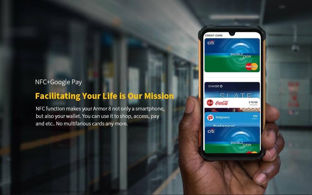 Ulefone Armor 8 Rugged 4G Smartphone NFC+Google Pay