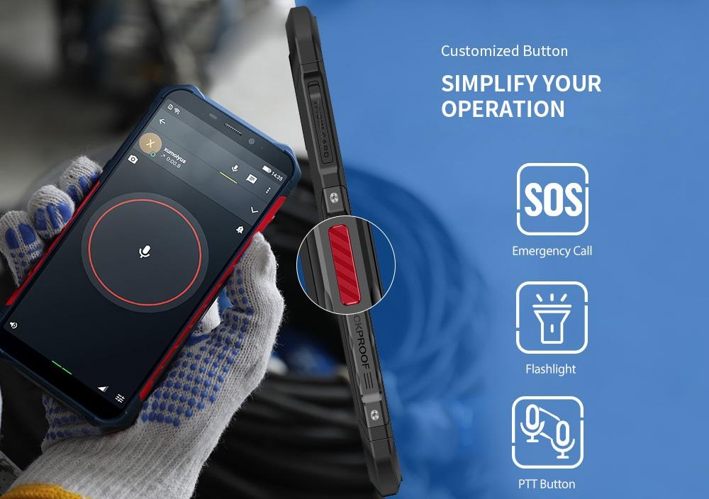 Ulefone Armor X3 3G Phablet 5,5 hüvelykes Android 9.0 MT6580 Quad Core 2 GB RAM 32 GB ROM 8.0MP + 2.0MP hátsó kamera 5000mAh akkumulátor - ezüst EU