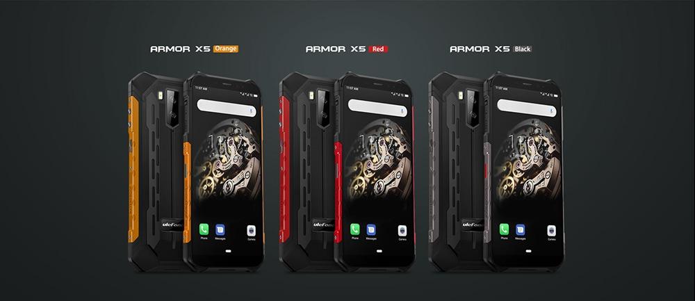 Ulefone Armor X5 4G Phablet 3GB RAM 32GB ROM- Orange EU