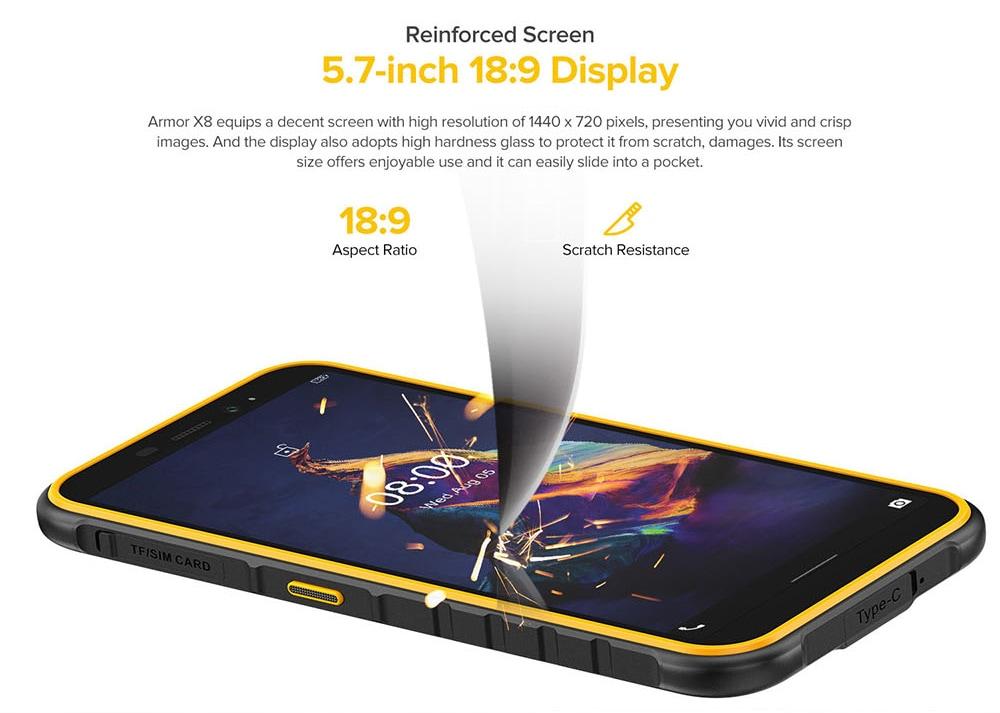 Ulefone Armor X8 Rugged Waterproof Smartphone Global Version - Orange