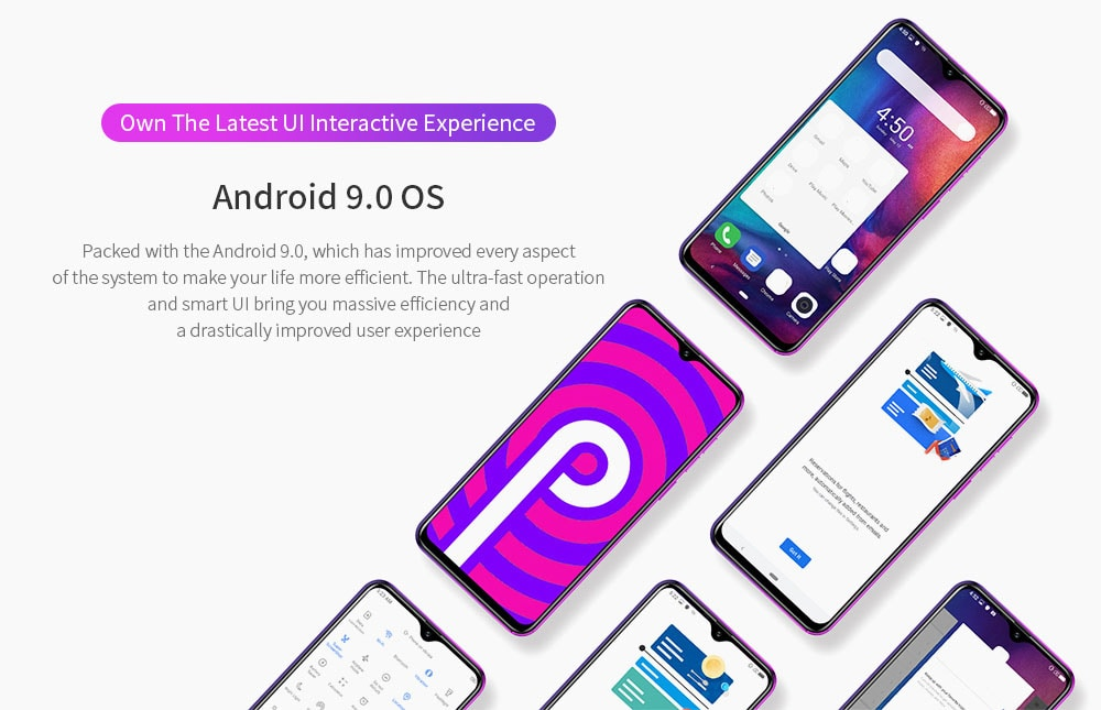 Ulefone Note 7P 4G Phablet 6.1 inch Android 9.0 MT6761VWB Quad Core 3GB RAM 32GB ROM 8.0MP + 2.0MP + 2.0MP Rear Camera 3500mAh Battery Fingerprint Face Unlock- Black Other Area