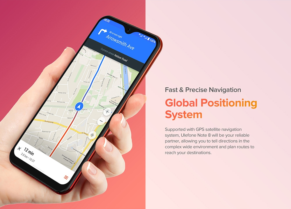 Ulefone Note 8 3G Smartphone Fast Precise Navigation
