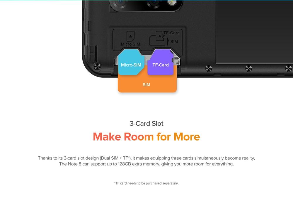 Ulefone Note 8 3G Smartphone 3-Card Slot