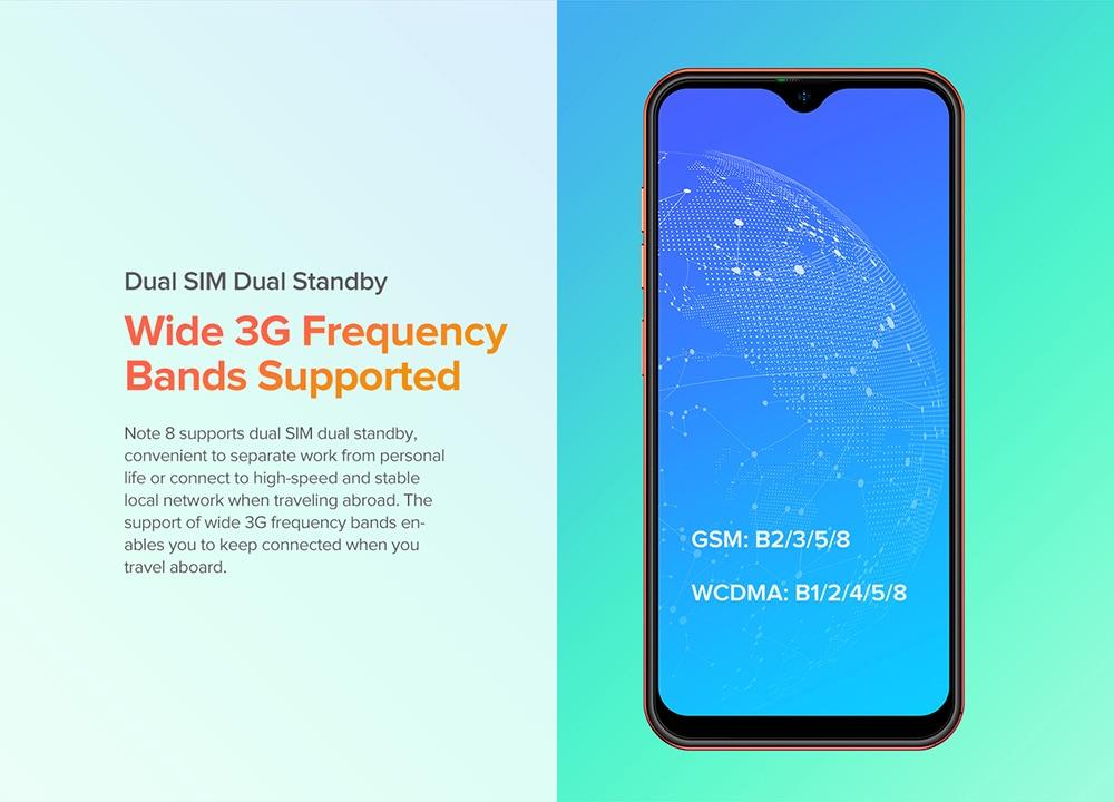 Ulefone Note 8 3G Smartphone Dual SIM Dual Standby