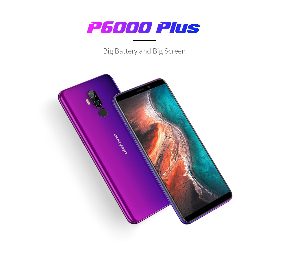 Ulefone P6000 Plus 4G Phablet 6 inch Android 9.0 MT6739WW Quad Core 3GB RAM 32GB ROM 13.0MP + 5.0MP Rear Camera 6350mAh Battery- Gold EU