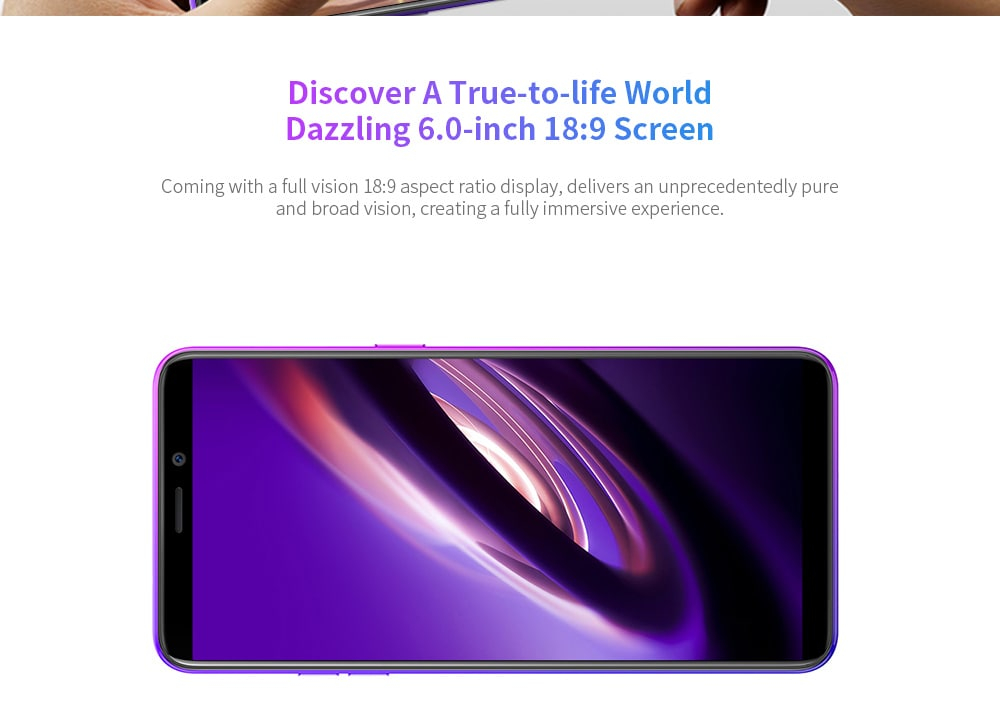 Ulefone P6000 Plus 4G Phablet 6 inch Android 9.0 MT6739WW Quad Core 3GB RAM 32GB ROM 13.0MP + 5.0MP Rear Camera 6350mAh Battery- Black EU