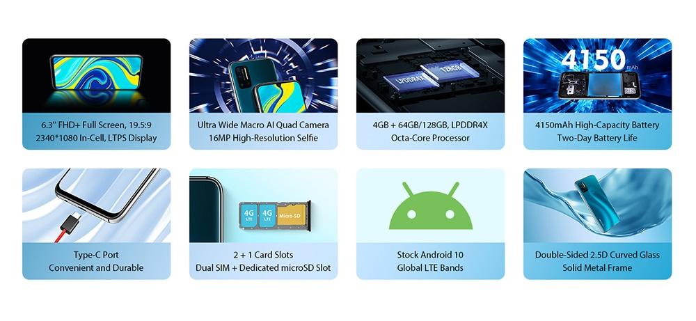 UMIDIGI A7 Pro 4G Smartphone Global Version features