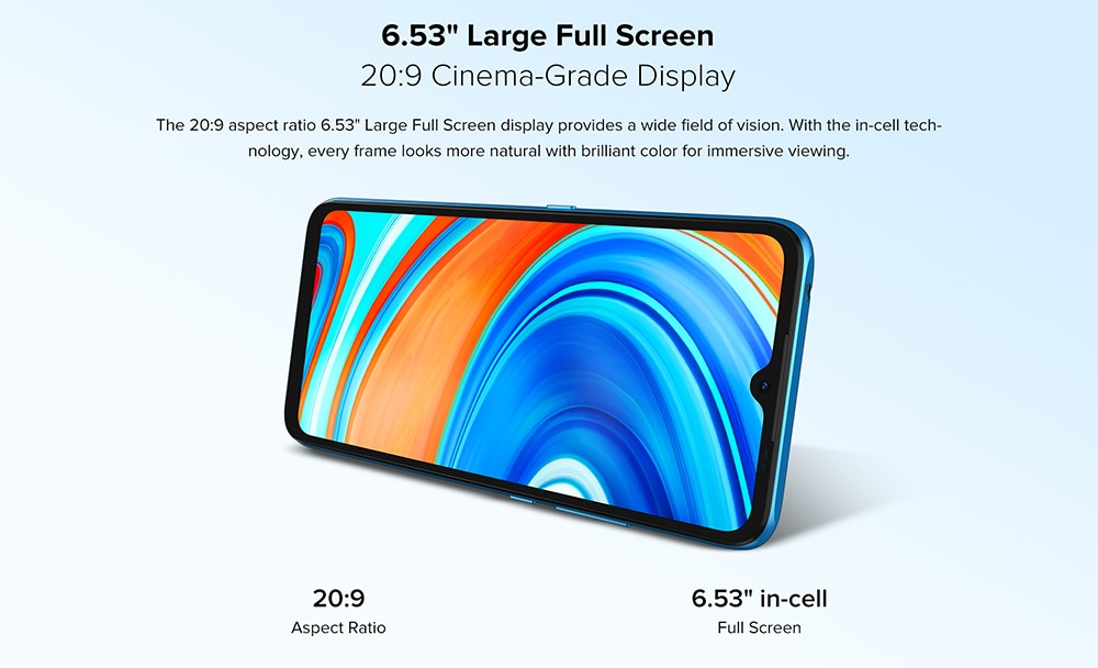 UMIDIGI A9 Smartphone Global Bands 6.53 Inch HD+ Infrared Thermometer Android 11 5150mAh 3GB 64GB Helio G25 13MP Triple Rear Camera Octa Core 4G Smartphone - Blue 6.53