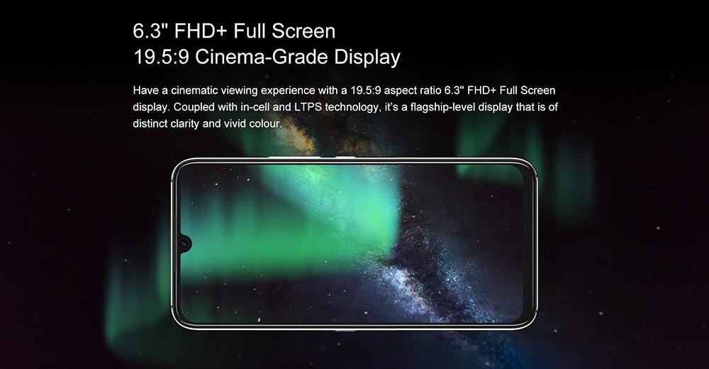 UMIDIGI A9 Pro Smartphone Global Bands 6.3 Inch FHD+ Infrared Thermometer Helio P60 Android 10 4150mAh 48MP AI Matrix Quad Camera 4G Smartphone - Black 6GB+128GB 6.3