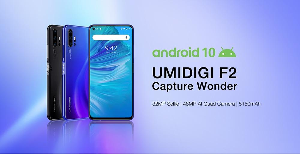 UMIDIGI F2 4G Phablet 6GB RAM 128GB ROM - kék EU