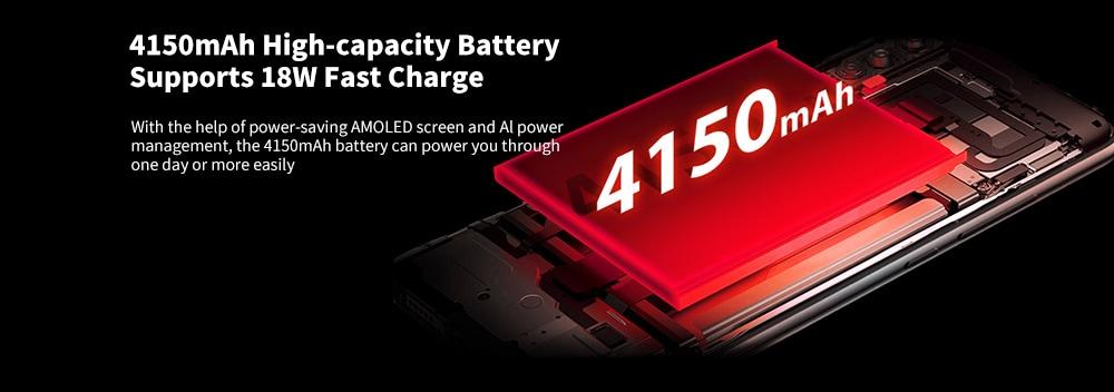 UMIDIGI X 4G Phablet 6.35 inch Android 9.0 Helio P60 Octa Core 4GB RAM 128GB ROM 48.0MP + 8.0MP + 5.0MP Rear Camera 4150mAh Battery NFC In-screen Fingerprint Sensor- Twilight EU Area