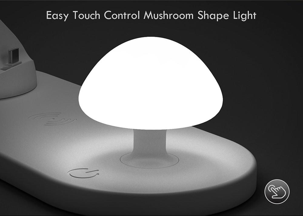 Utorch B06 vezeték nélküli gyors töltésű USB Touch Night Light-White