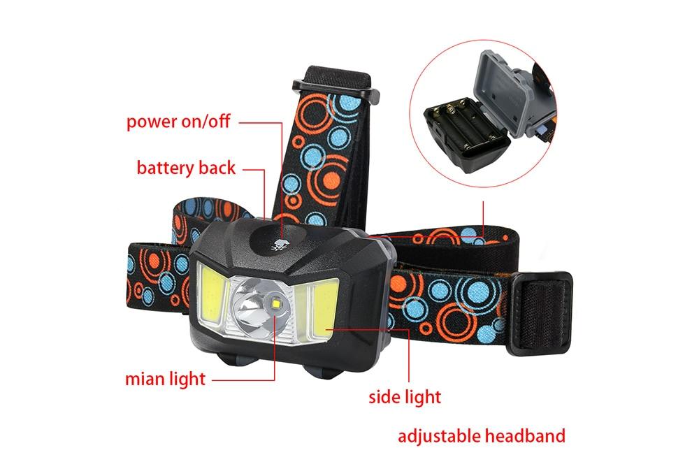 Utorch könnyű / IPX4 vízálló kivitelű kültéri fényszóró kemping világítás - fekete