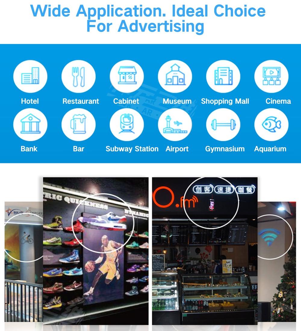 Utorch Z3 holografikus kijelző LED ventilátor reklámgép AC 100 - 240V - fekete