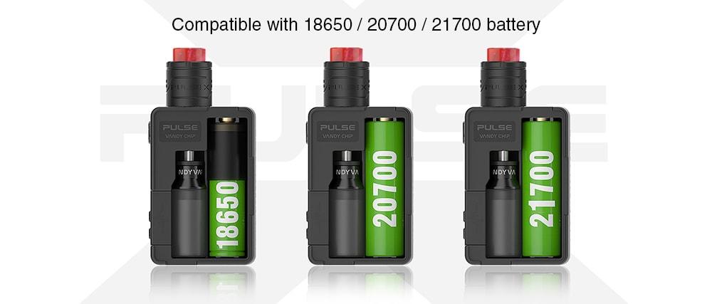 Vandy Vape Pulse X 90W Squonk készlet impulzus X BF RDA E cigarettafestékhez