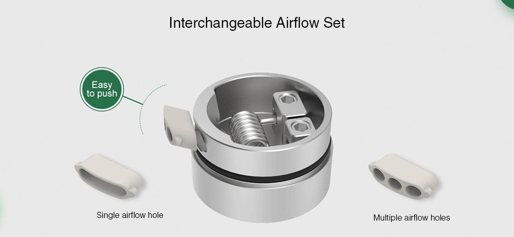 Vapefly Pixie RDA with Interchangeable Airflow for E Cigarette- Multi-A