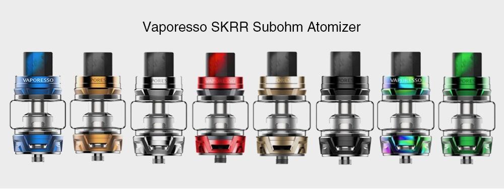 Vaporesso SKRR Subohm Atomizer 8 ml-es kapacitással E-cigaretta-ezüstre