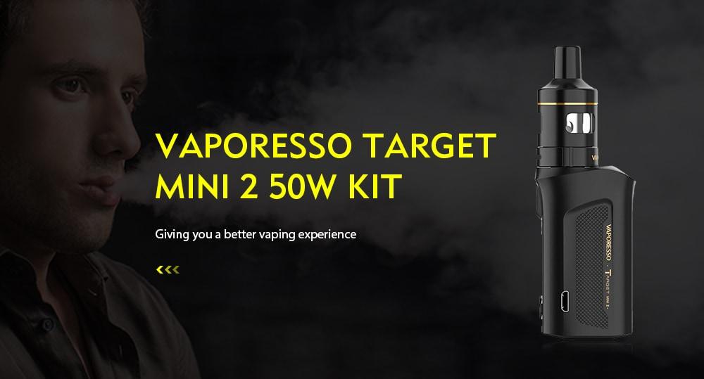 VAPORESSO Target Mini 2 Vapor Kit 50W with VM Tank 2000mAh- Platinum