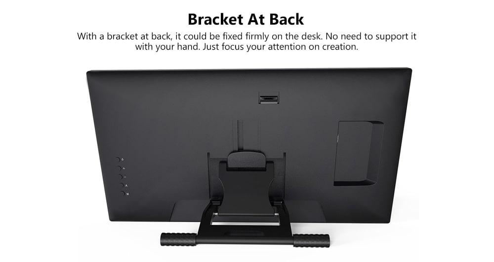VEIKK VK1560 15,6 hüvelykes digitális táblaszámítógép LCD IPS rajzfigyelő 8192 szintű akkumulátormentes tolltartóval - fekete EU csatlakozó