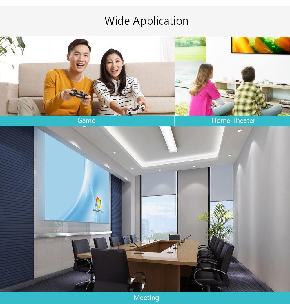 VIVIBRIGHT C80 LCD házimozi projektor 1500 lumen támogatás 1080P HDMI VGA USB laptophoz - fehér EU csatlakozó