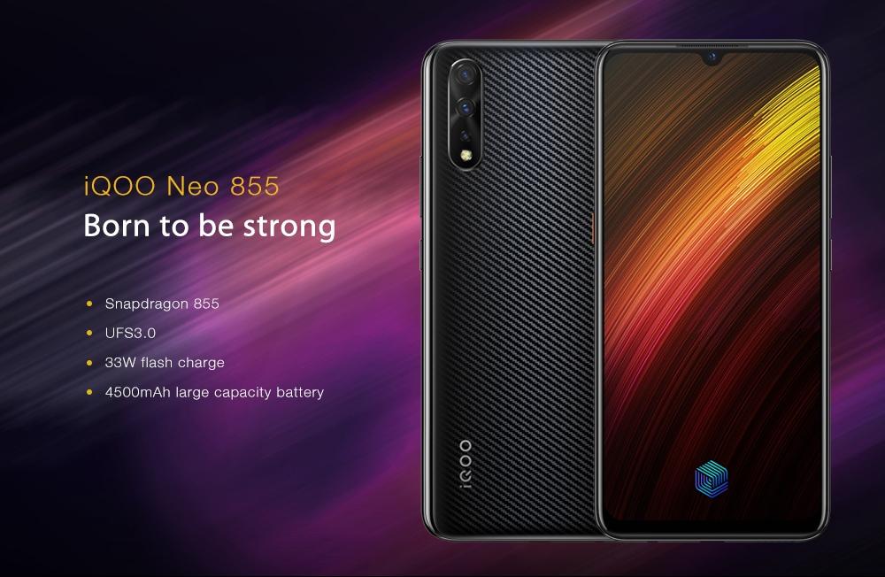 Vivo iQOO Neo 855 4G Phablet 6GB RAM 128GB ROM- Black