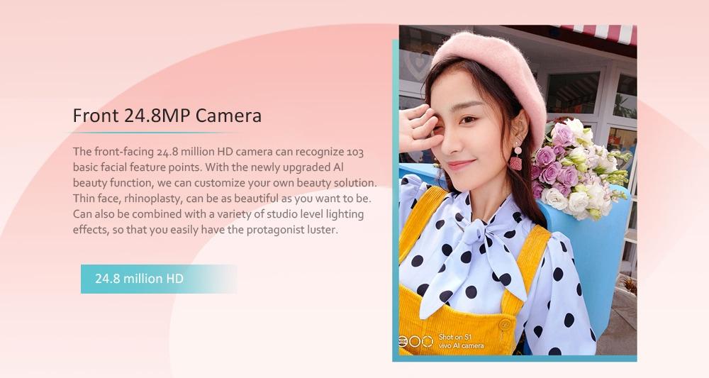 Vivo S1 4G Phablet 6.53 inch Funtouch OS 9 ( Android 9.0 ) Helio P70 Octa Core 2.1GHz 6GB RAM 128GB ROM Quad Camera Fingerprint Sensor 3940mAh Built-in  - Pink