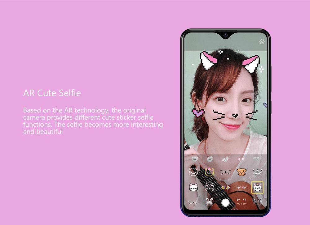 Vivo U1 4G Phablet 6.2 inch Funtouch OS 4.5 Qualcomm Snapdragon 439 Octa Core 2.84GHz Adreno 505 3GB RAM 32GB ROM 3 Camera 4030mAh Battery Built-in- Red