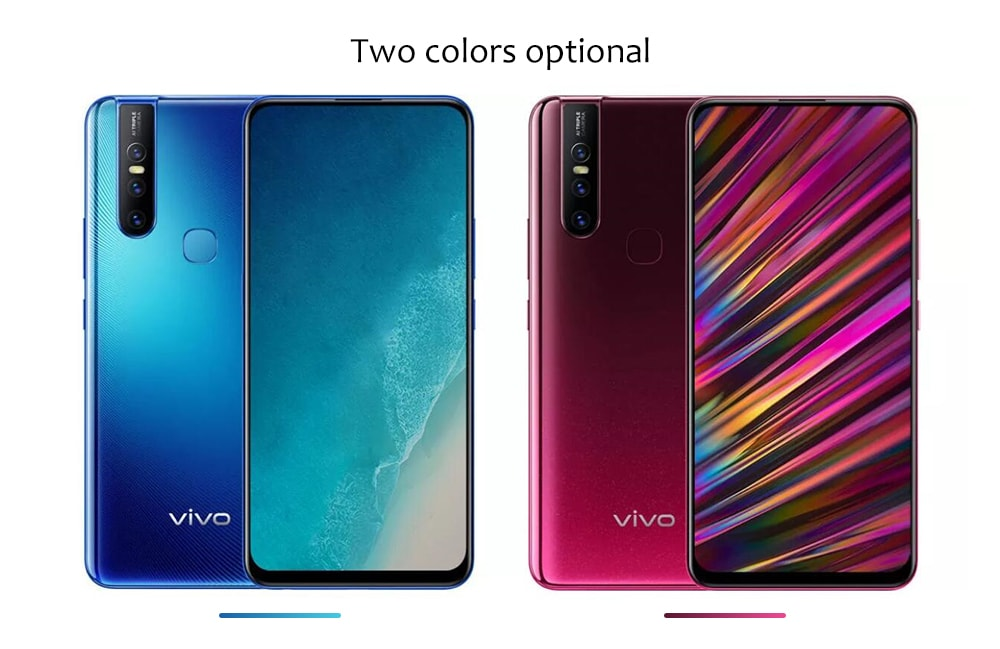 Vivo V15 4G Phablet 6.53 inch Android 9.0 Helio P70 Octa Core 2.1GHz 6GB RAM 128GB ROM 12.0MP + 8.0MP + 5.0MP Rear Camera 4000mAh Battery- Rosso Red
