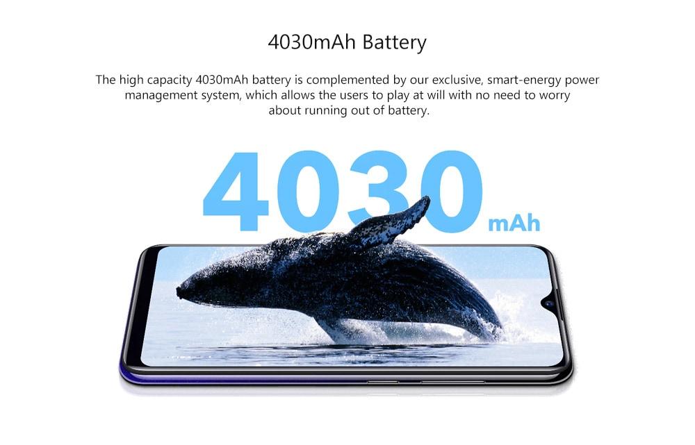 Vivo Y95 4G Phablet 6.22 inch Funtouch OS 4.5 Qualcomm Snapdragon 439 Octa Core 1.95GHz Adreno 505 4GB RAM 64GB ROM 3 Camera Fingerprint Sensor 4030mAh Battery Built-in Global Version- Black